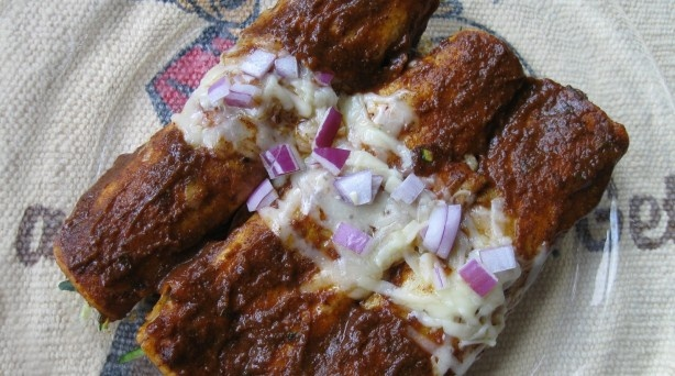enchiladas with chili gravy | Recipes | Pinterest