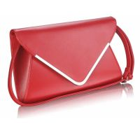 Red clutch, evening clutch, women's fashion bags www.outfit-online.ro for more!
