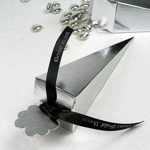 Silver Wedding Favor Cones