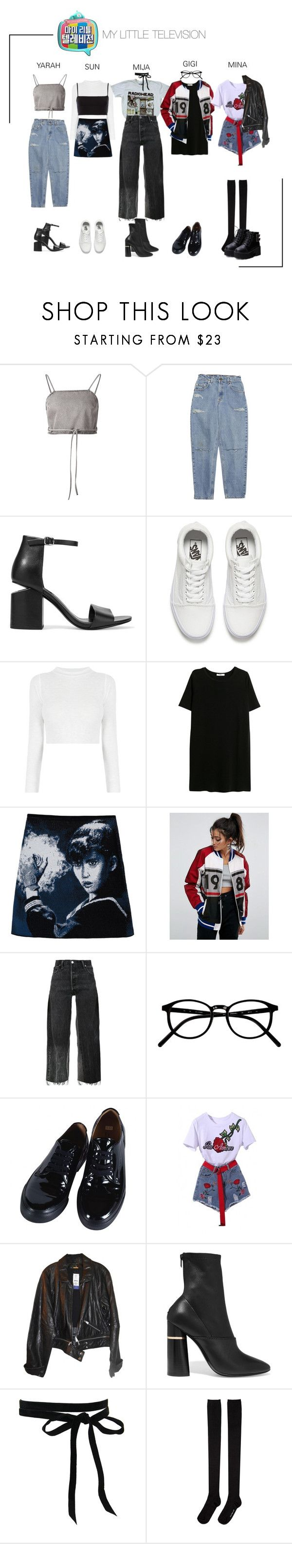 """""""ARIA (아리아) My Little Television"""" by ariaofficial ❤ liked on Polyvore featuring Shaina Mote, Alexander Wang, Vans, MANGO, ASOS, RE/DONE, Comme des Garçons, WithChic, Rebecca Minkoff and 3.1 Phillip Lim"""