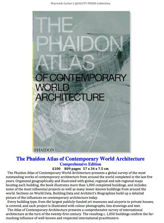 The Phaidon Atlas of Contemporary World Architecture - Comprehensive Edition