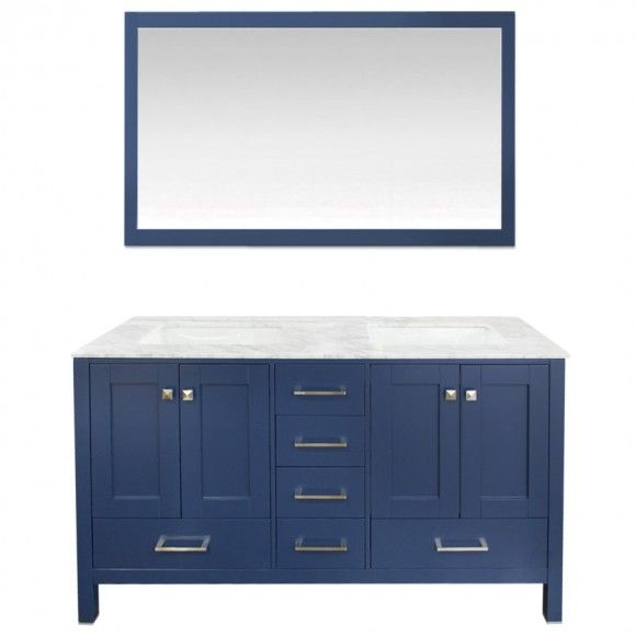 Navy Cabinets, Copper Bathroom And Apartment Color