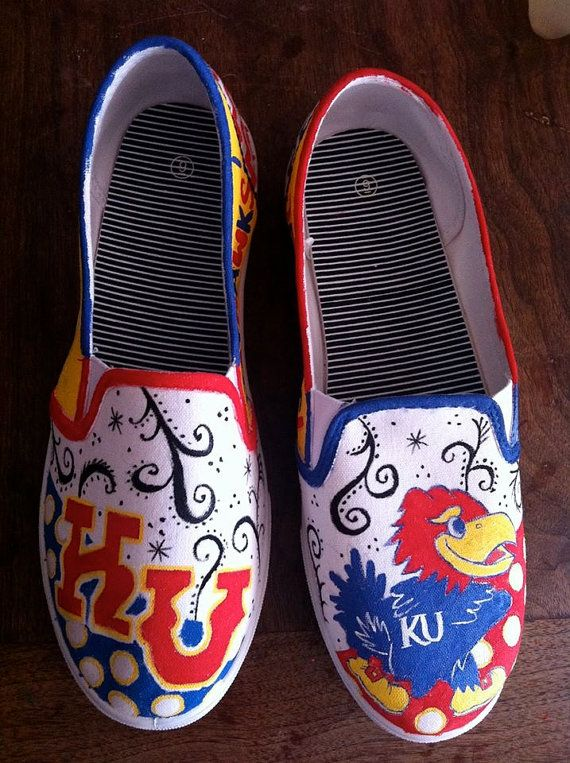 school spirit hand painted shoes by uniquelydarling on Etsy