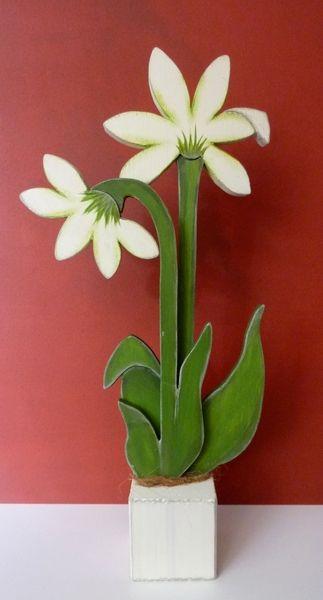 XXL Blumen-Duo (57cm hoch) von Woodlouse auf DaWanda.com
