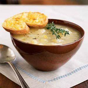 Ricetta zuppa cipolle, aglio e porri