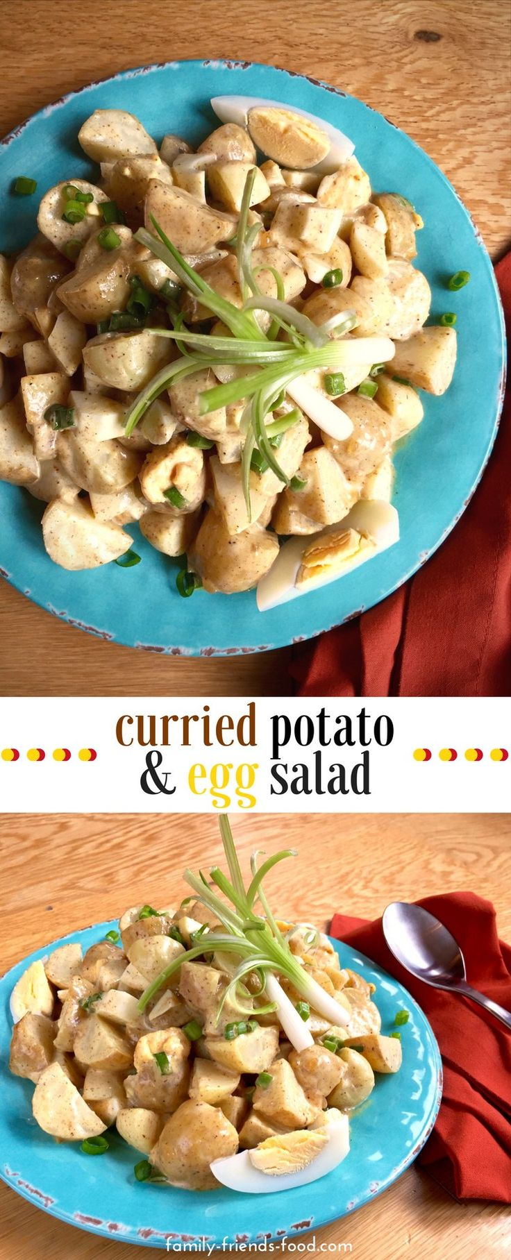 A sumptuous potato salad made with baby new potatoes in a creamy, sweet-tangy dressing, fragrant with Indian spices & mango chutney. A great summer side dish!