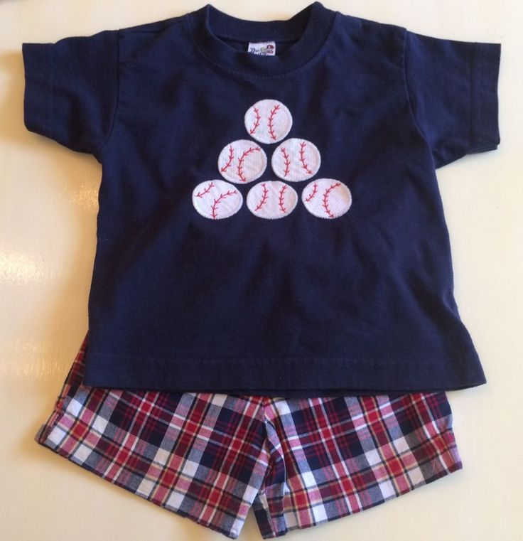 Boys 2T Bailey Boys Shirt Shorts Baseball 2pcs Summer Clothes July 4th USA Made  | eBay