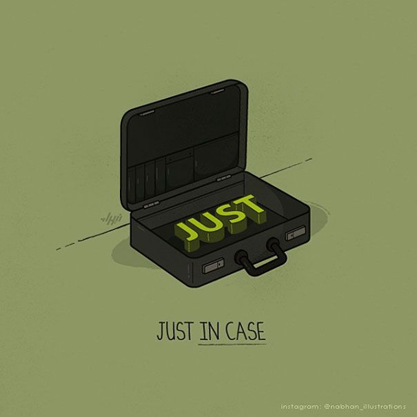 Nabhan Abdullatif is a professional Oman-based graphic designer and illustrator who specializes in conceptual illustration and vector art. He is known for his amusing pun illustrations, which he posts on Instagram. The puns are made with simple everyday objects like hangers, eggs and shopping bags, but the ideas and illustrations are deceptive in their apparent simplicity - imagine how hard it would be to come up with these ideas yourself!