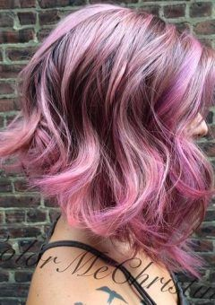 Best 25 brown and pink hair ideas on pinterest brown hair pink 2 pastel purple and pink highlights for brown pmusecretfo Choice Image