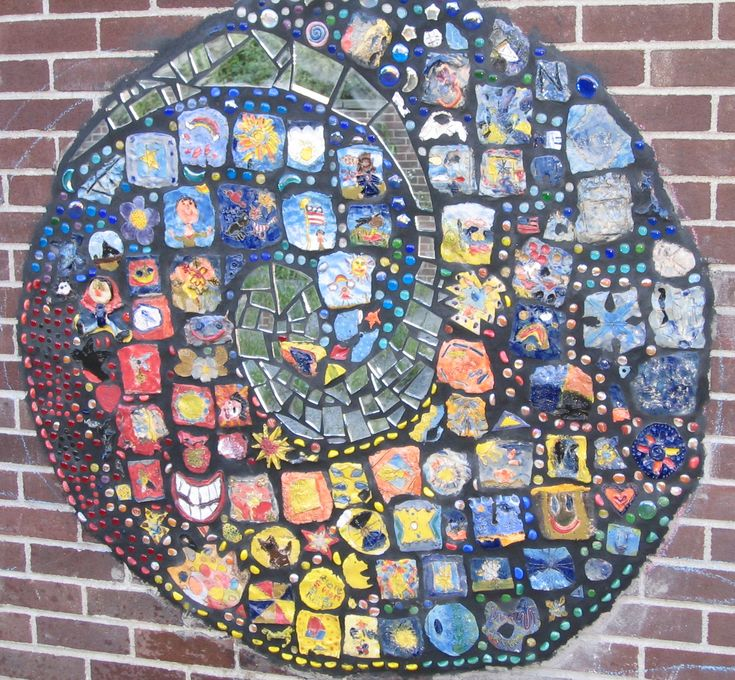 17 best images about murals on pinterest bottle cap art for Clay tile mural