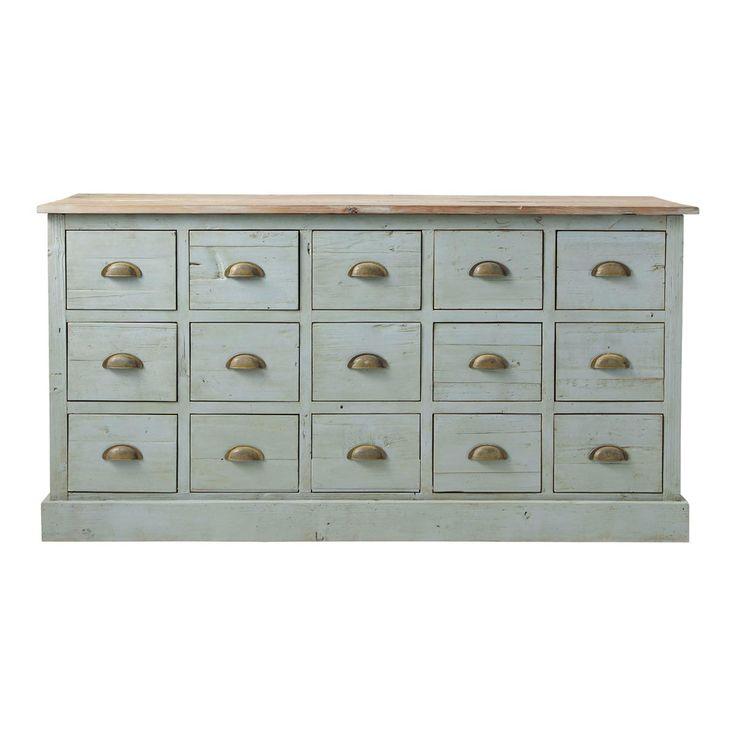 Comptoir meuble de métier gris bleu CHATELET (juste pour la couleur)
