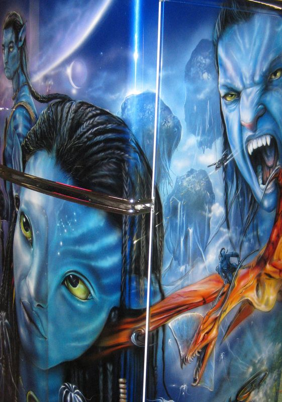 Airbrushed Avatar Fridge - Painted by Mike Lavallee of Killer Paint - www.killerpaint.com