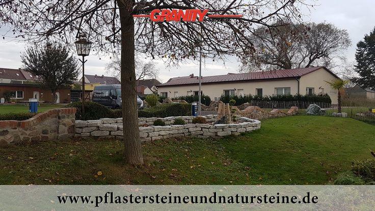 """Firma B&M GRANITY - frostbeständige, """"antike"""" Granit-Mauersteine/ Quader ohne scharfe Kanten, Polengranit      http://www.pflastersteineundnatursteine.de/fotogalerie/mauersteine/"""