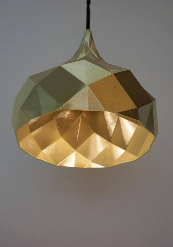 Fibonacci Pendant Light Gold Pendant Light Geometric Pendant Light Gold Lampshade Modern Contemporary Unique Pendant Light Geometric Pendant Light Ceiling Rose Lamp Bases
