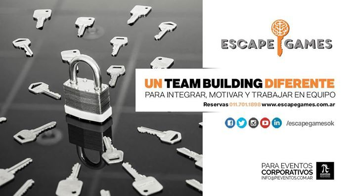 A través de PiEventos podes organizar una actividad corporativa para que equipos de trabajo aplicando el ingenio, la creatividad y el poder de observación logren salir de nuestras salas de escape. Vení con tu equipo de trabajo a Escape Games! Más info-> info@pieventos.com.ar Tel : (011) 4702-9882 #fashion #style #stylish #love #me #cute #photooftheday #nails #hair #beauty #beautiful #design #model #dress #shoes #heels #styles #outfit #purse #jewelry #shopping #glam #cheerfriends #bestfriends…