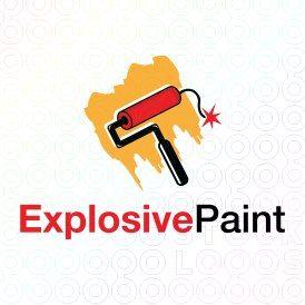 Exclusive Customizable Logo For Sale: Explosive Paint | StockLogos.com