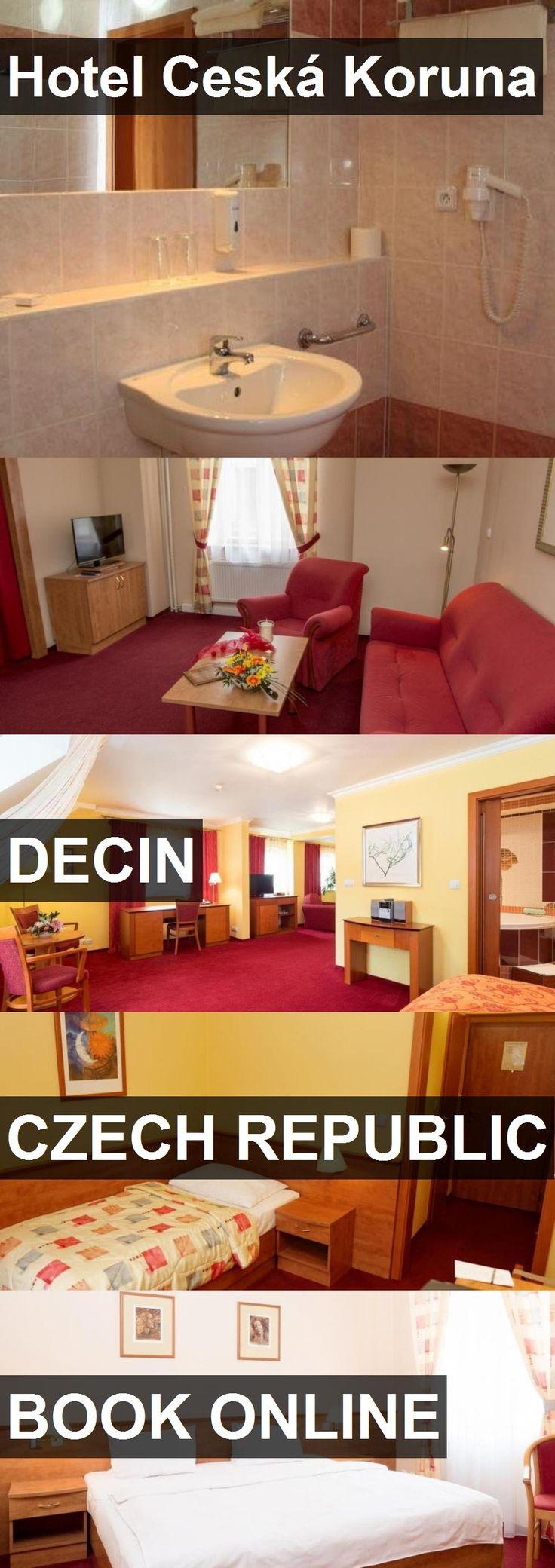 Hotel Ceská Koruna in Decin, Czech Republic. For more information, photos, reviews and best prices please follow the link. #CzechRepublic #Decin #travel #vacation #hotel