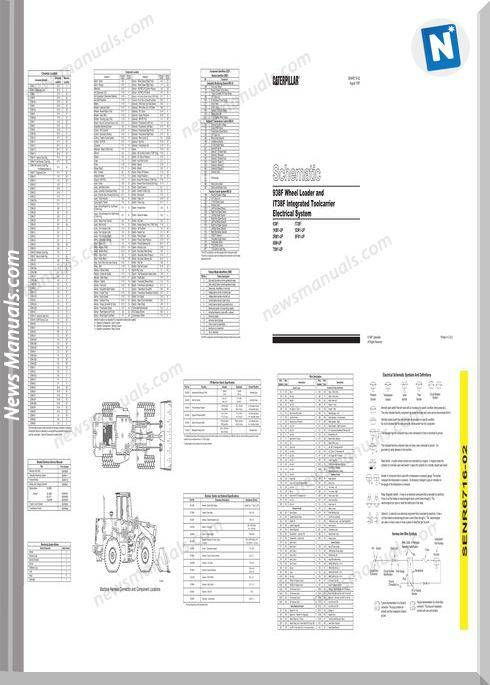Caterpillar 938f Wheel Loader It38f Wiring Diagram  With