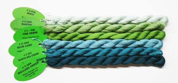 Needlework Silk Yarns Silk Yarns Wiltex Vineyard Silk Yarn Classic Vineyard Silk Thread Vineyard Silk Classic 5.80 Each Silk Threads