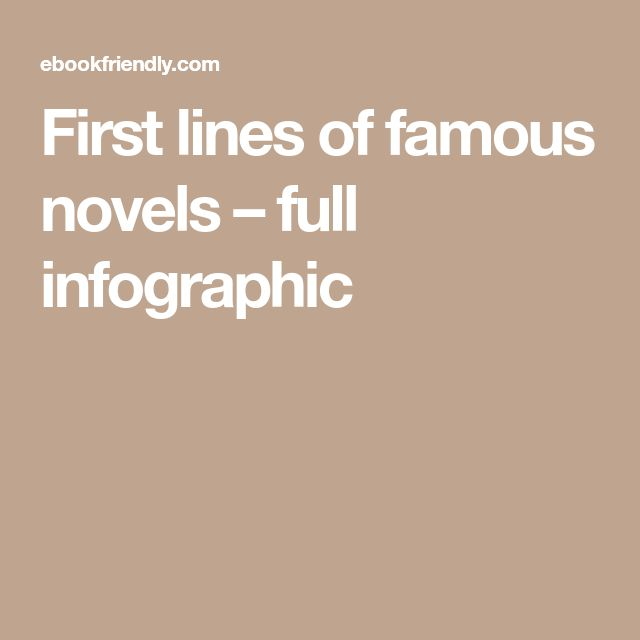 First lines of famous novels – full infographic