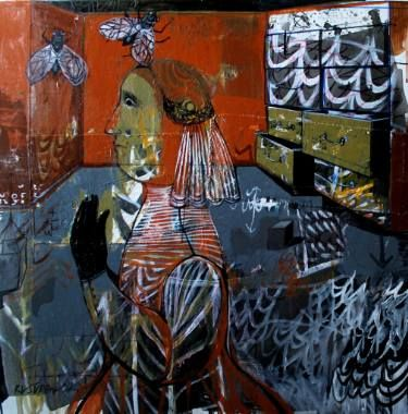 "Saatchi Art Artist Rusudan Khizanishvili; Painting, ""Red Room"" #art"