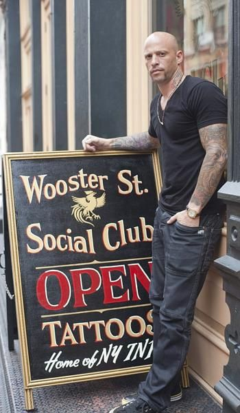 Ami James at his SoHo tattoo parlor