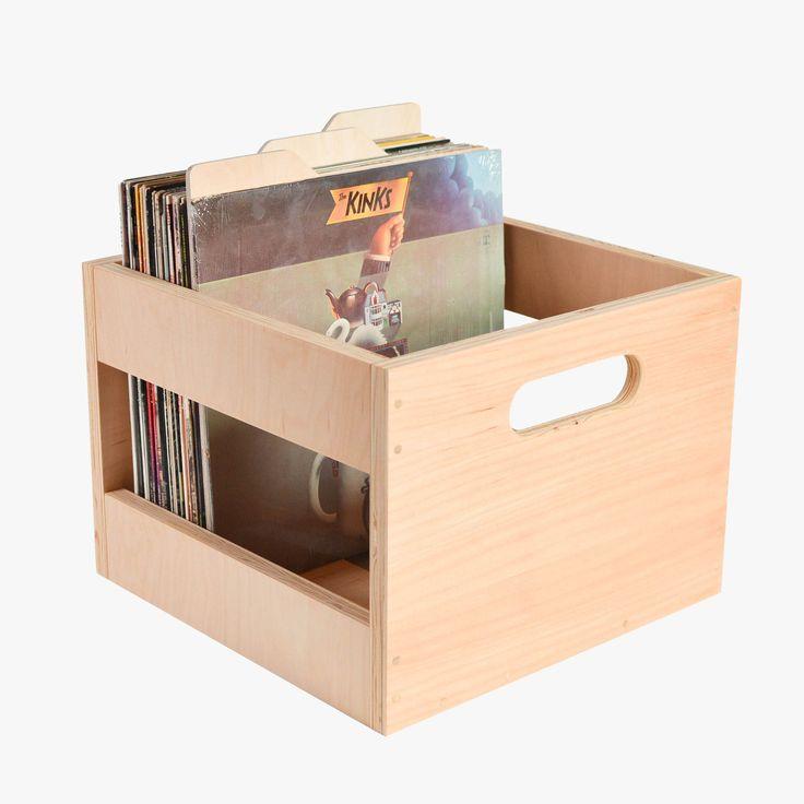 Vinyl Record Crafts Storage Boxes