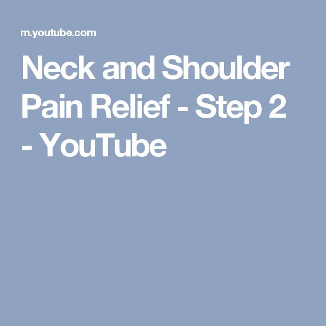 how to get relief from neck and shoulder pain
