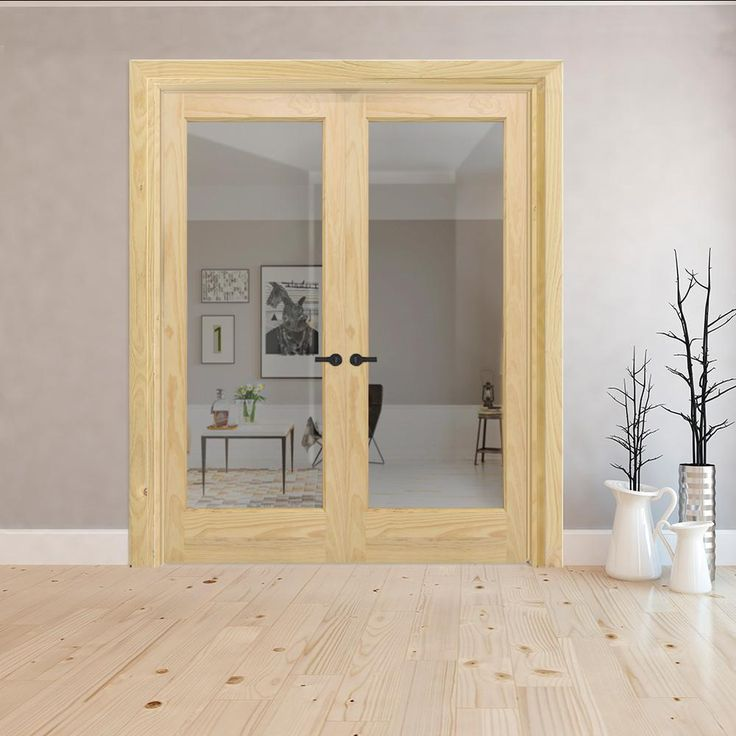 Steves Sons 60 In X 80 In Universal 1 Lite Clear Glass Unfinished Pine Double Prehung Interior French Door With Bronze Hinges Sip0000008818 The Home Depot In 2020 Prehung Interior French