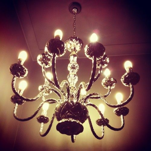 We're suckers for chandeliers. Hello luxury.