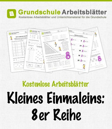 Kostenlose Arbeitsblätter und Unterrichtsmaterial zum Thema Kleines Einmaleins: 8er-Reihe im Mathe-Unterricht in der Grundschule.