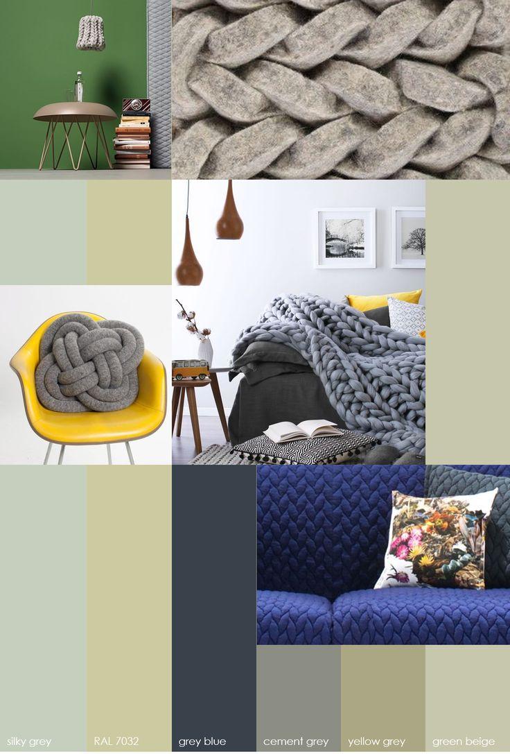 GZ STUDIO {knitting}  Wol, we love it. En dan het liefst grof gebreid. Een veel geziene trend voor karpetten, kleden en kussens.  • wol • weefsel • knus • vlechtwerk • warm • kettingdraden • home • textuur • golvend • elastisch Bij grof gebreide kleden denken de meesten waarschijnlijk aan warm-op-de-bank-in-je-eigen-huis, maar wol kan ook prima in een zakelijke omgeving. Drapeer eens een gebreid kleed over de bank in de wachtkamer of leg een gebreid karpet in de lounge. Succes verzekerd!