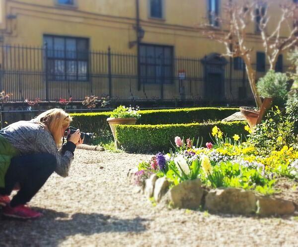 L'inviata di #TheFlorentine visita il giardino monumentale del #MAF #Firenze