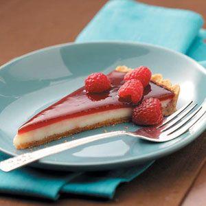 Raspberry Custard Tart Recipe from Taste of Home: Tarts Food ...