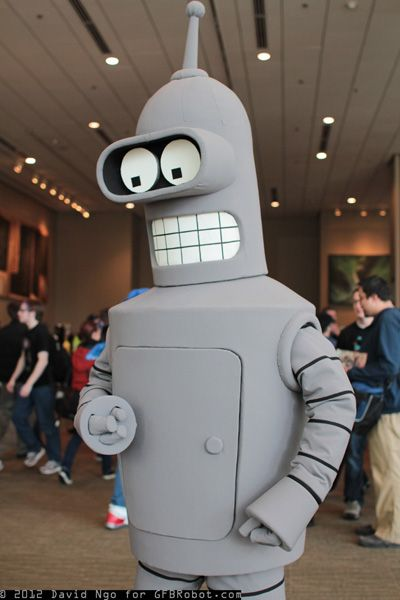 Bender from futurama cartoon show