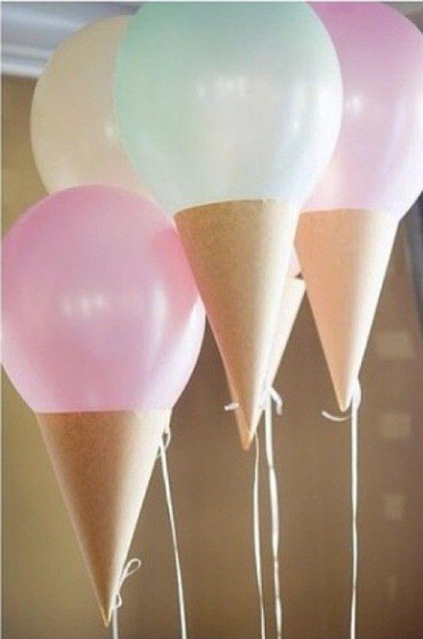 Globos formando helados. Tutorial. | Ideas y material gratis para fiestas y celebraciones Oh My Fiesta!