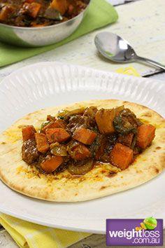 Pumpkin Curry with Naan Bread Recipe. #CurryRecipes #HealthyRecipes #WeightLoss weightloss.com.au