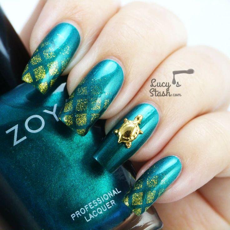 Sea Turtle Nail Art: 29 Best Nails Turtle Images On Pinterest