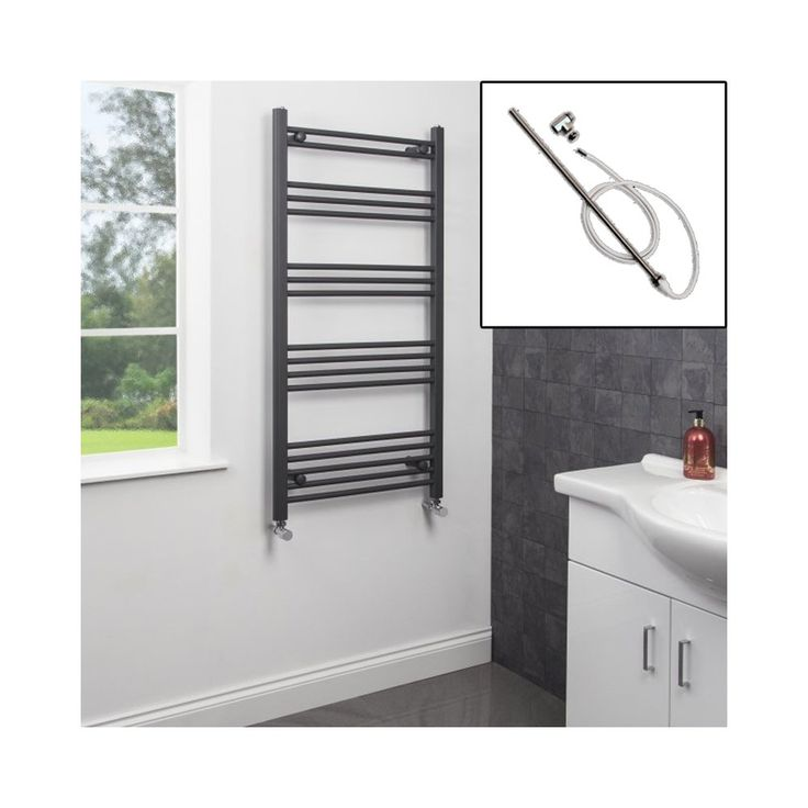 Dual Fuel Anthracite Heated Towel Rail 1200 x 600mm. High end quality, internet price. In stock: Delivery Next Day. Rated 4.7/5 (6 reviews) Paypal welcome. Plumbworld