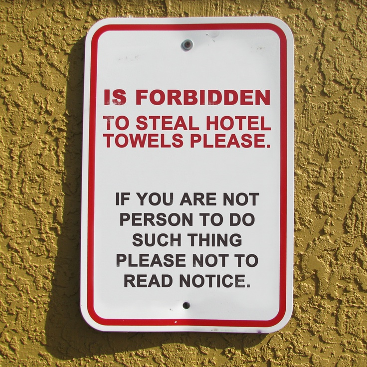 1000 Images About Funny Notices In Hotels On Pinterest