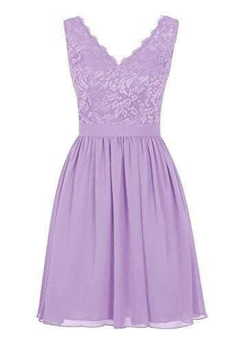 Angel Formal Dresses Women's V Neck Lace Dress Bridesmaids Dress Short Prom Dress(2,Lavender) Angel Formal Dresses http://www.amazon.com/dp/B01BY2G97U/ref=cm_sw_r_pi_dp_ITv7wb09NFGW1