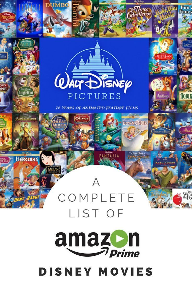 A Complete List Of Disney Movies Available On Amazon Disney