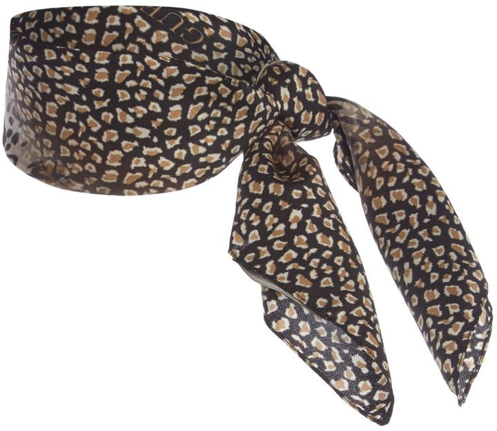 Guess Leopard print boxed silk square scarf    Christmas Gift Ideas for Mums