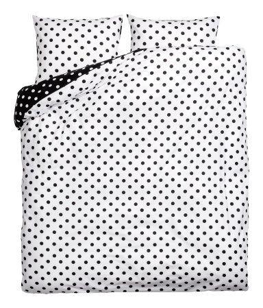 Polka dot duvet cover | Black and White Polka dot Duvet | H&M Home