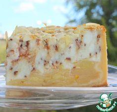 Яблочно-творожный пирог с шоколадом - кулинарный рецепт
