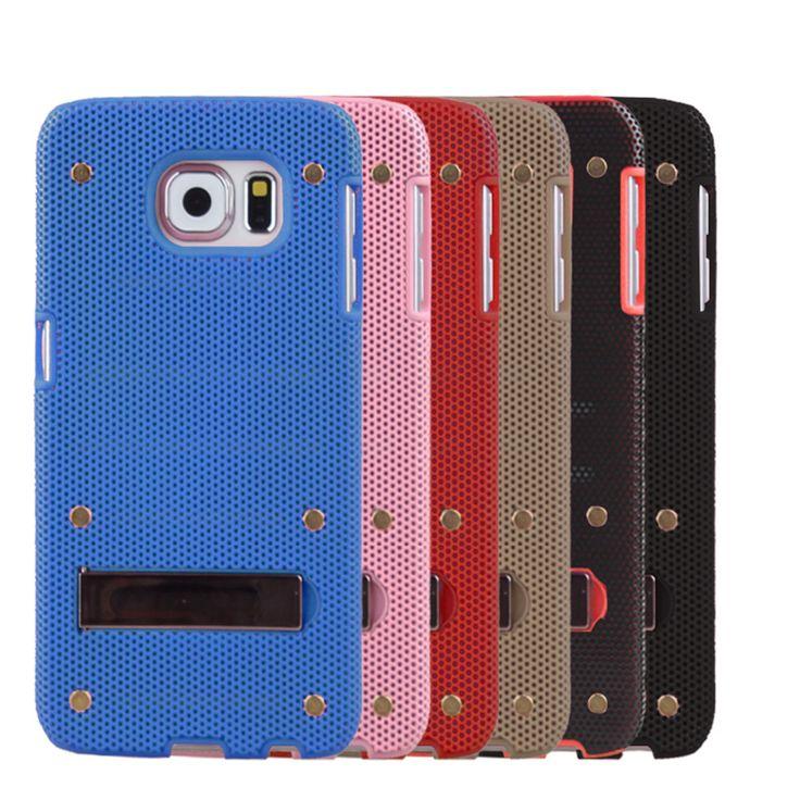 Сетка дизайн случай мобильного телефона для Samsung S6 мобильный телефон защитный чехол красочные
