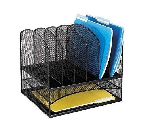 desktop file organizer office desk drawers organize files storage onyx mesh