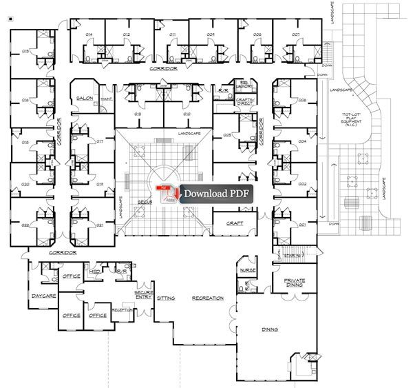 Assisted Living Facilities Floor Plans Carrington Court