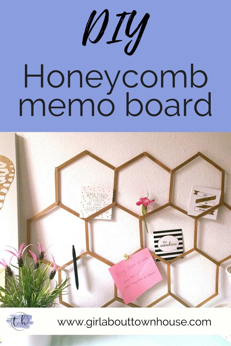 DIY Honeycomb memo board - Girl about townhouse