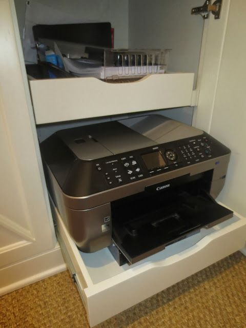 Hidden printer drawers! I Polish & Patina